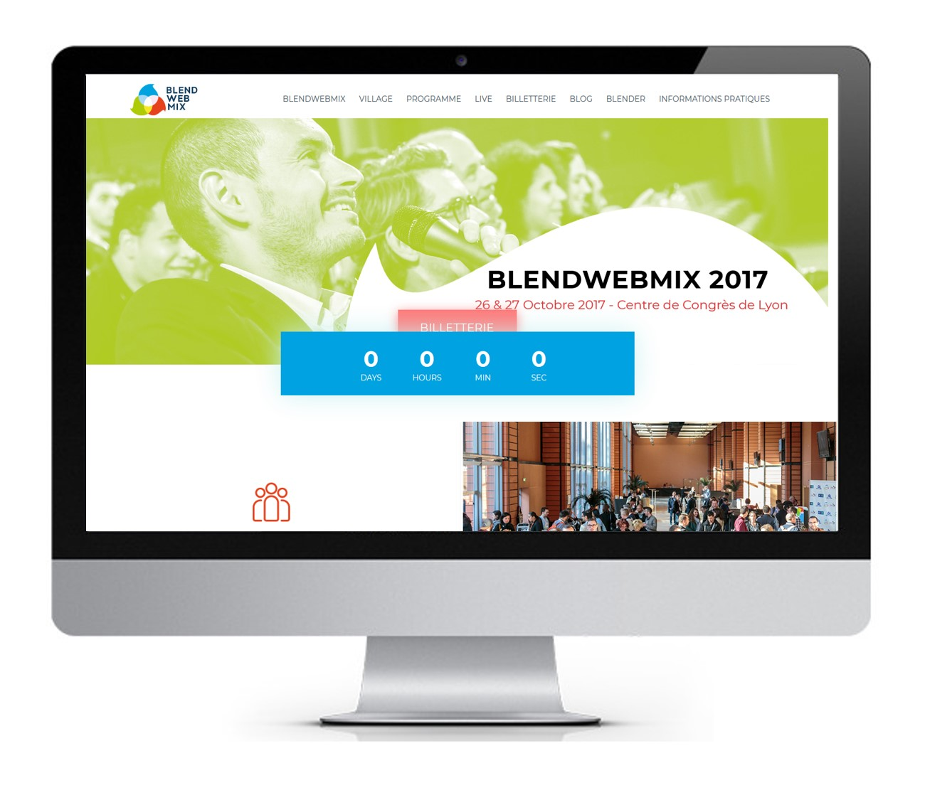 capture écran site Blend Web Mix 2017