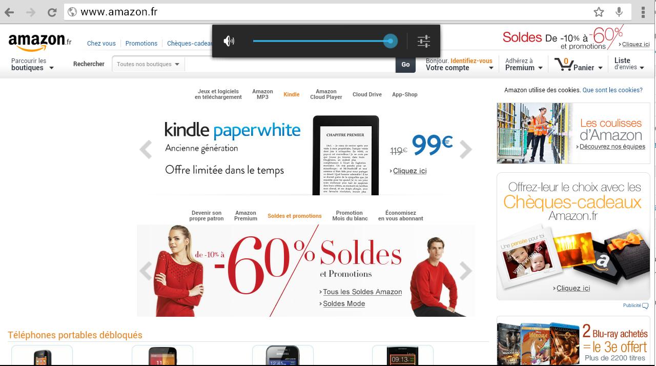 Amazon sur Tablette